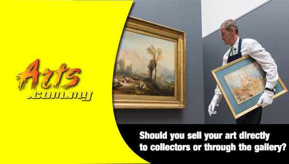 Should you sell your art directly to collectors or through the gallery?