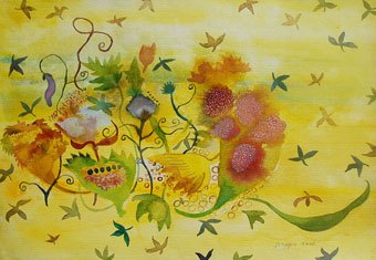 The Home maker series The Germination of Soul watercolor On Paper