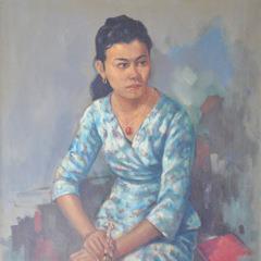 Artist Dato Mohammed Hoessein Enas Portrait of Zoebaidah