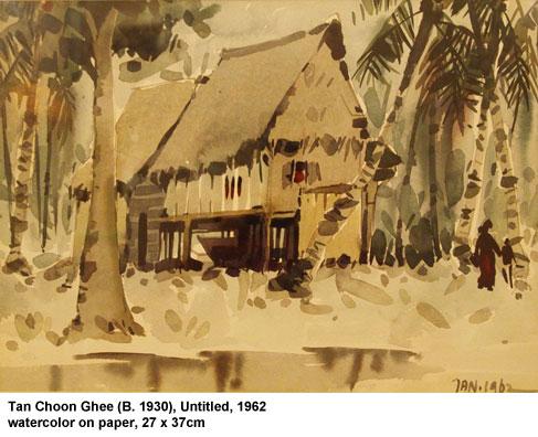 Artist Tan Choon Ghee a house in a jungle