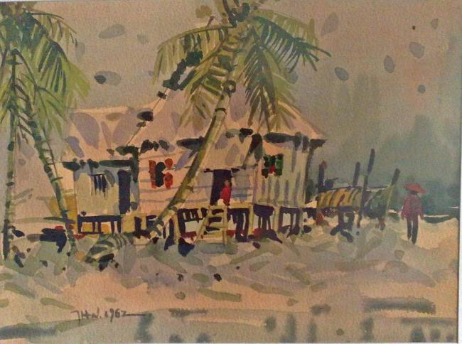 Artist Tan Choon Ghee fishing village