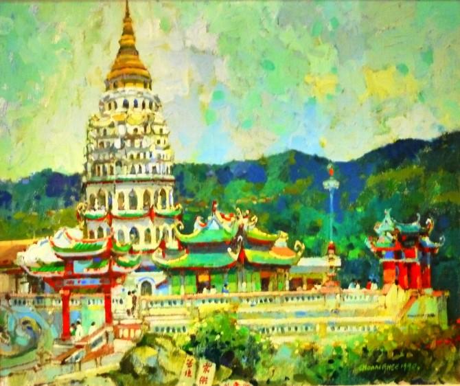 Artist Tan Choon Ghee painting