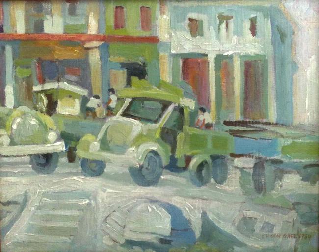 Artist Tan Choon Ghee street scene