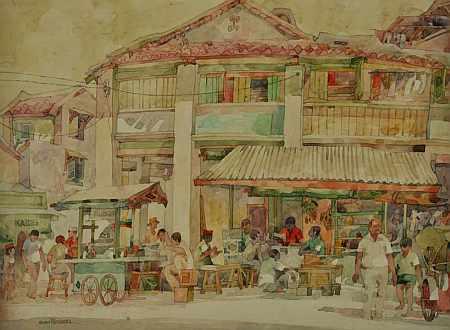 Artist Tan Choon Ghee tailor stall