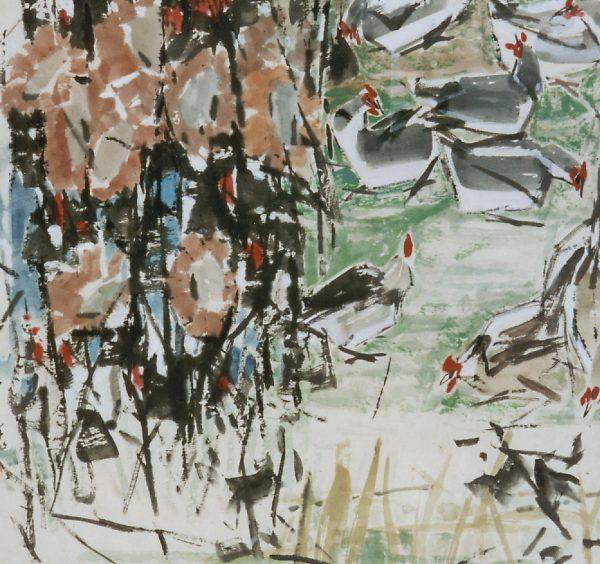 Artist Chen Wen Hsi chickens