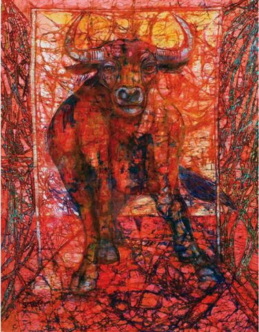 Abstract Painting - Bull