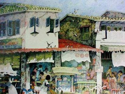 China Town - A painting By Lee Eng Beng