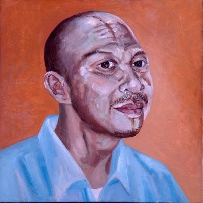 Noor Mahnun Mohamed - Head Study, Oil on canvas