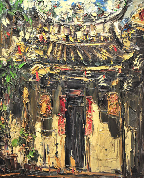 Peter Liew Title: Philip Street Chinese Temple(Singapore)
