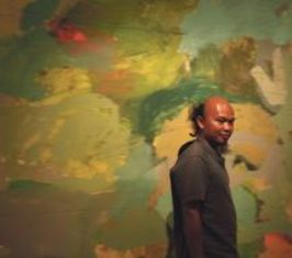 Self-taught Indonesian artist Agustian Supriatna's work sold out at Art Expo 2012