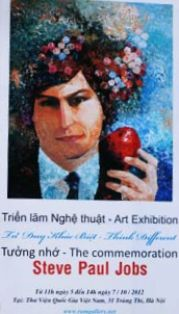 Hanoi Library holds painting and sculpture exhibition to honour Apple icon Steve Jobs