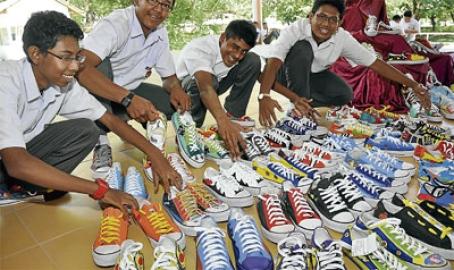 MBS boys designs plain shoes into hip footwear
